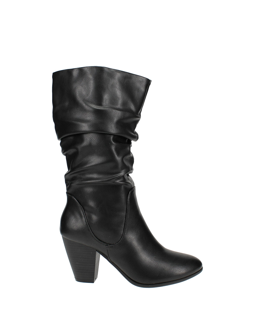 Yieldings Discount Shoes Store's Oliana Mid Calf Boots by Esprit in Black