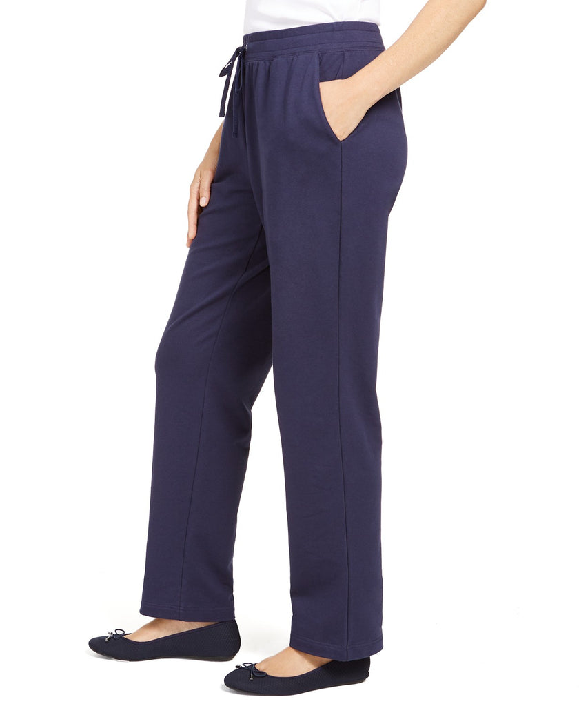 Yieldings Discount Clothing Store's French Terry Pants by Charter Club in Intrepid Blue