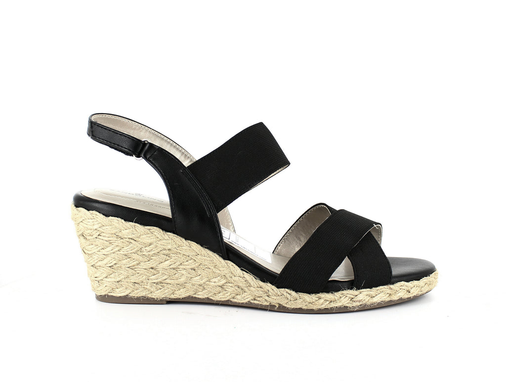 Yieldings Discount Shoes Store's Hearsay2 Open Toe Casual Slingback Sandals by Bandolino in Black