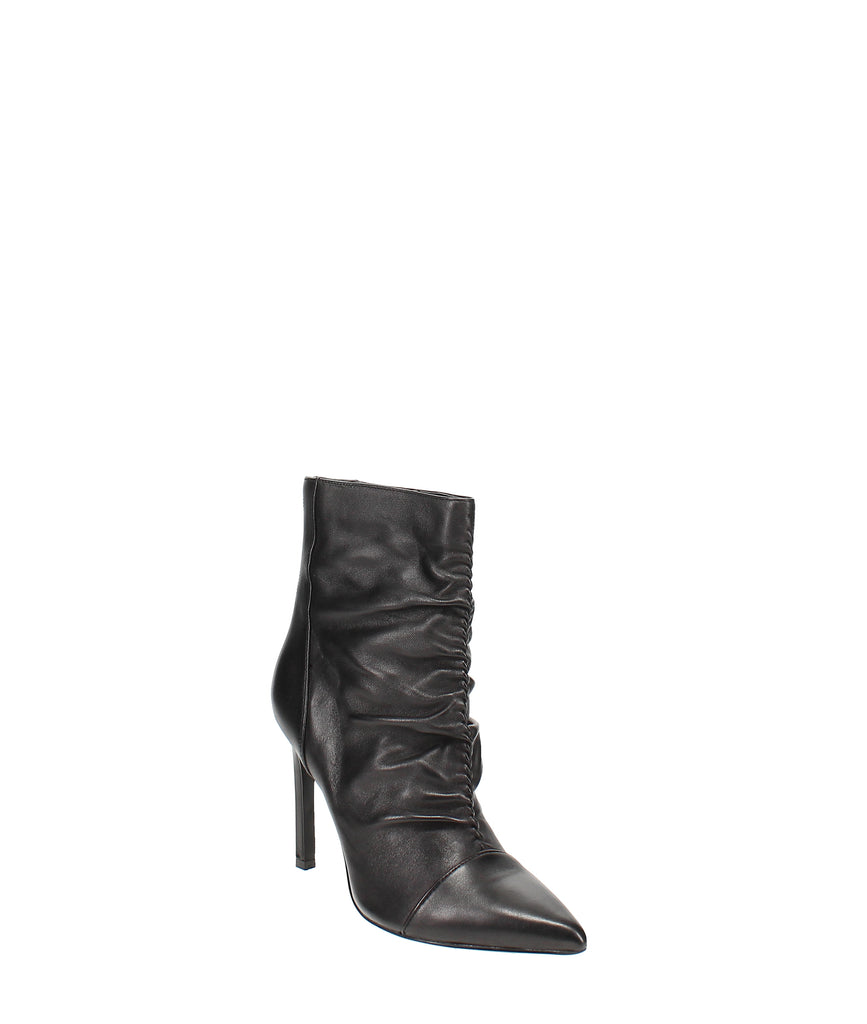 Yieldings Discount Shoes Store's Tiaa Sock Booties by Nine West in Black Leather