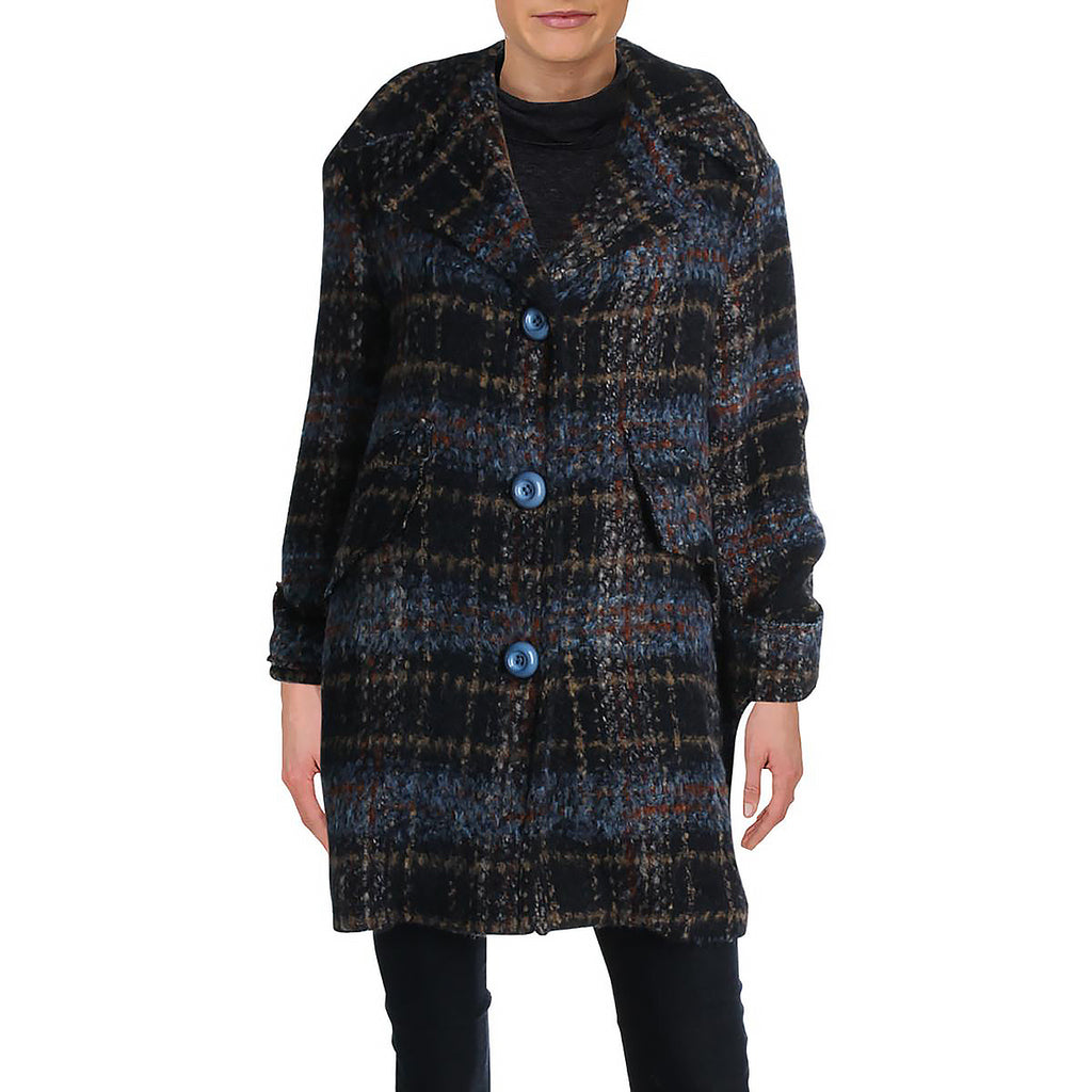 Yieldings Discount Clothing Store's Plaid 2 Jacket by Chepè in Blue Multi