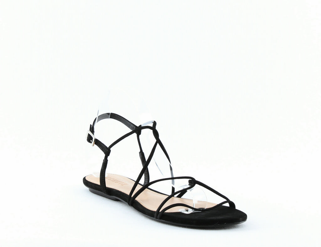 Yieldings Discount Shoes Store's Boyet Strappy Suede Sandals by Schutz in Black