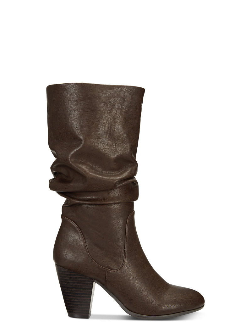 Yieldings Discount Shoes Store's Oliana Mid-Calf Boots by Esprit in Dark Brown