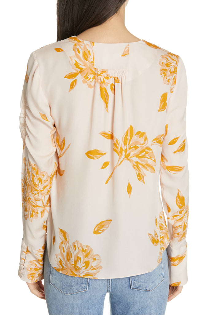 Yieldings Discount Clothing Store's Galvin Floral Blouse by Joie in Shimmer