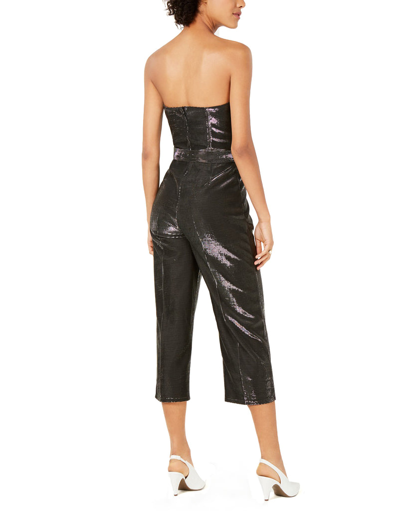 Yieldings Discount Clothing Store's Alex Metallic Sleeveless Jumpsuit by Lucy Paris in Black/Grey