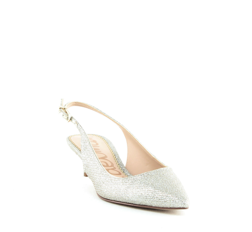 Yieldings Discount Shoes Store's Ludlow Pumps by Sam Edelman in Gold Mesh