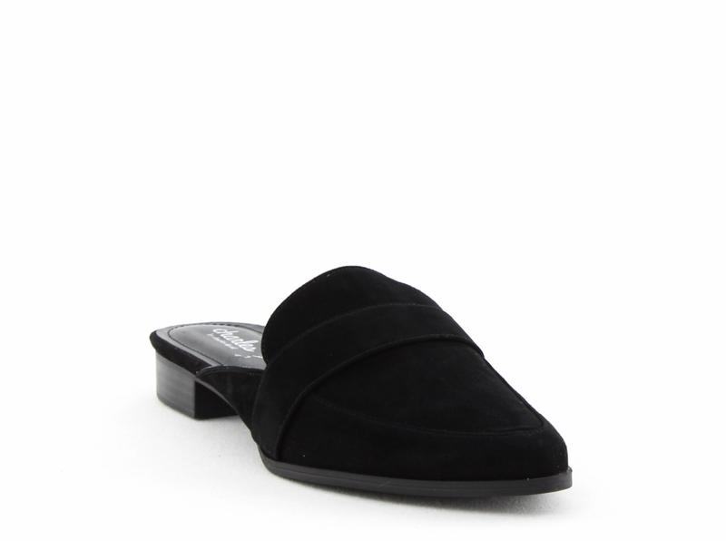 Yieldings Discount Shoes Store's Emma Tailored Mules by Charles By Charles David in Black Suede