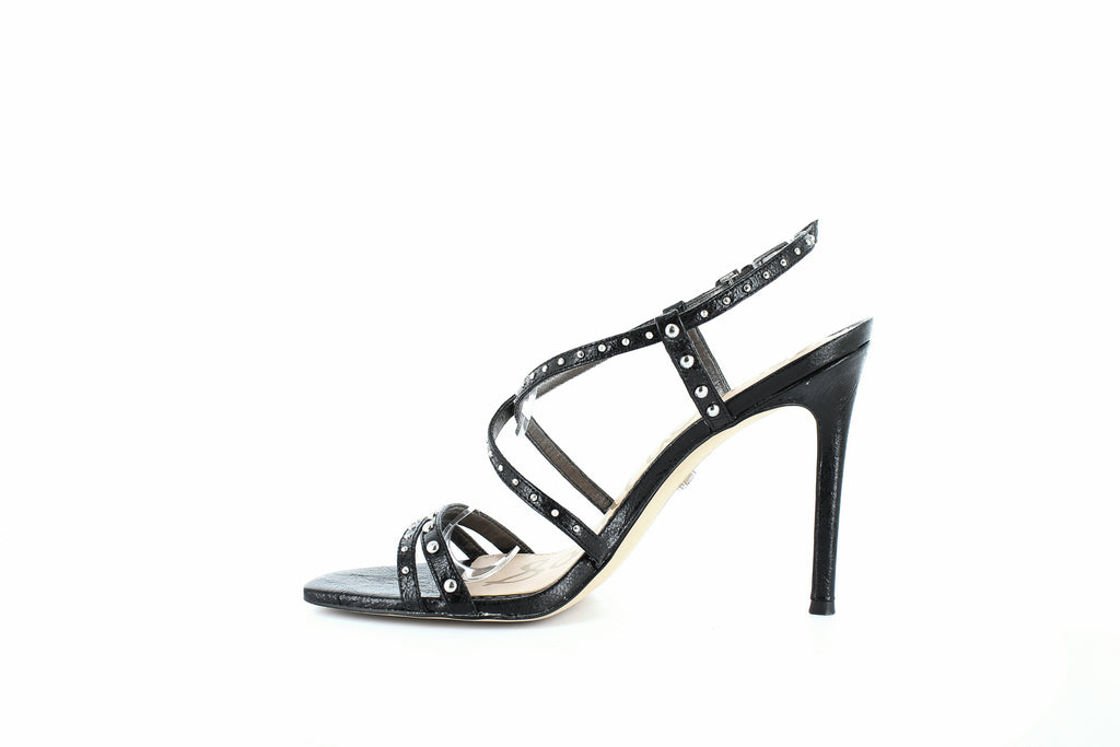 Yieldings Discount Shoes Store's Lennox High-Heel Sandals by Sam Edelman in Black