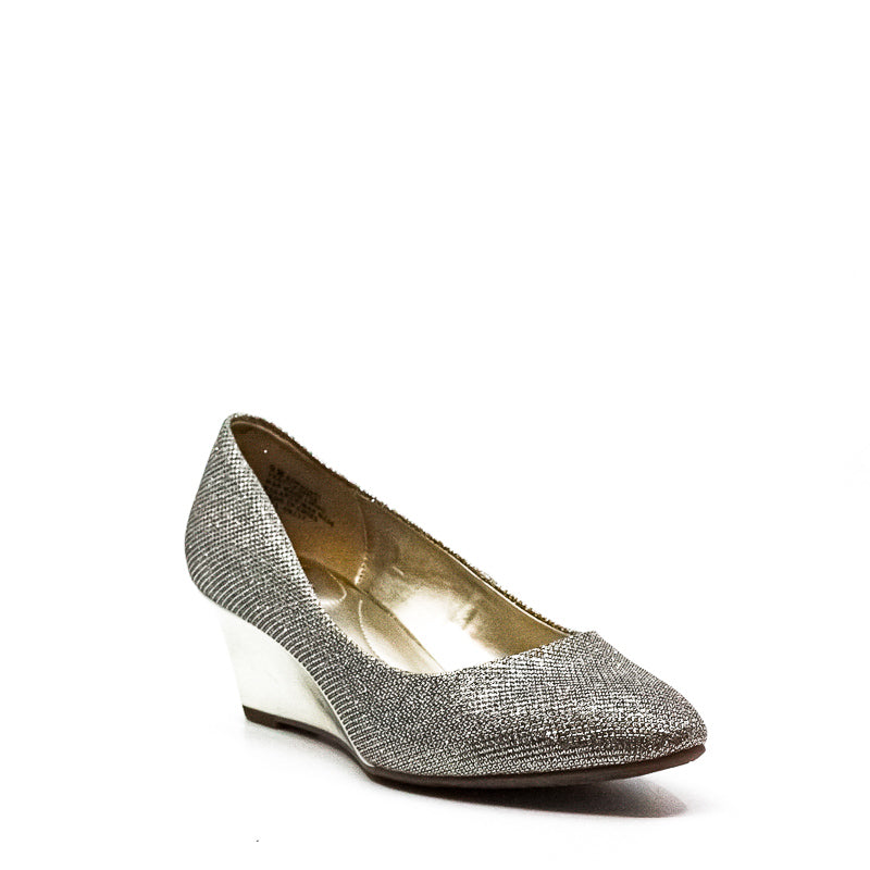 Yieldings Discount Shoes Store's Franci Wedges by Bandolino in Gold