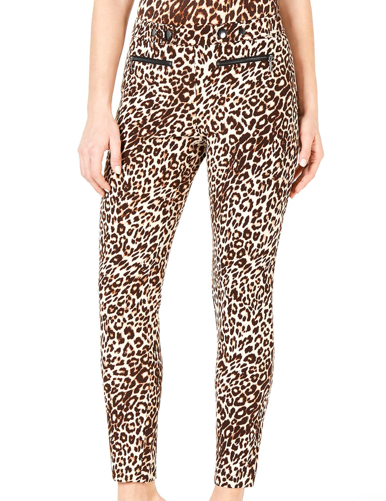 Yieldings Discount Clothing Store's Double-Snap Animal-Print Pants by Guess in Spotted Bengal
