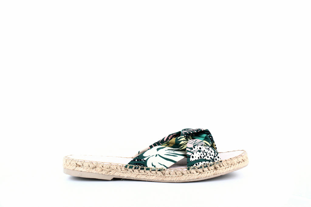 Yieldings Discount Shoes Store's Benicia Slides by Dolce Vita in Green Palm Print