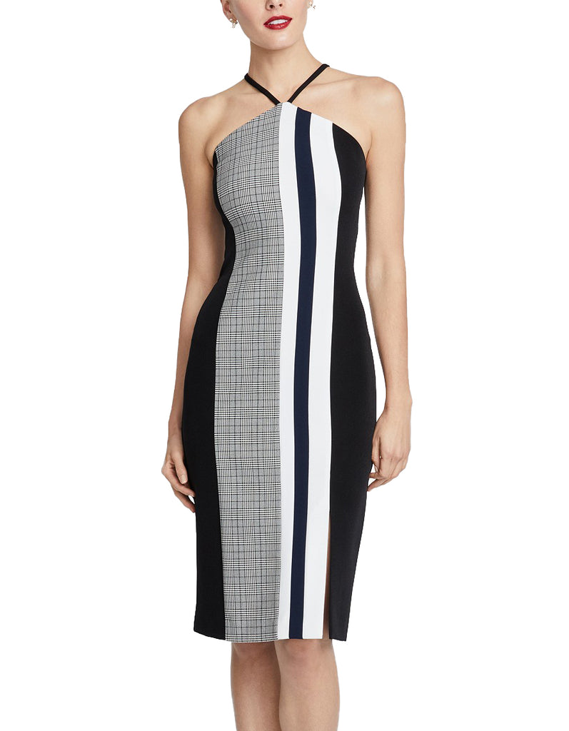 Yieldings Discount Clothing Store's Hailey Colorblocked Sleeveless Dress by RACHEL Rachel Roy in Black