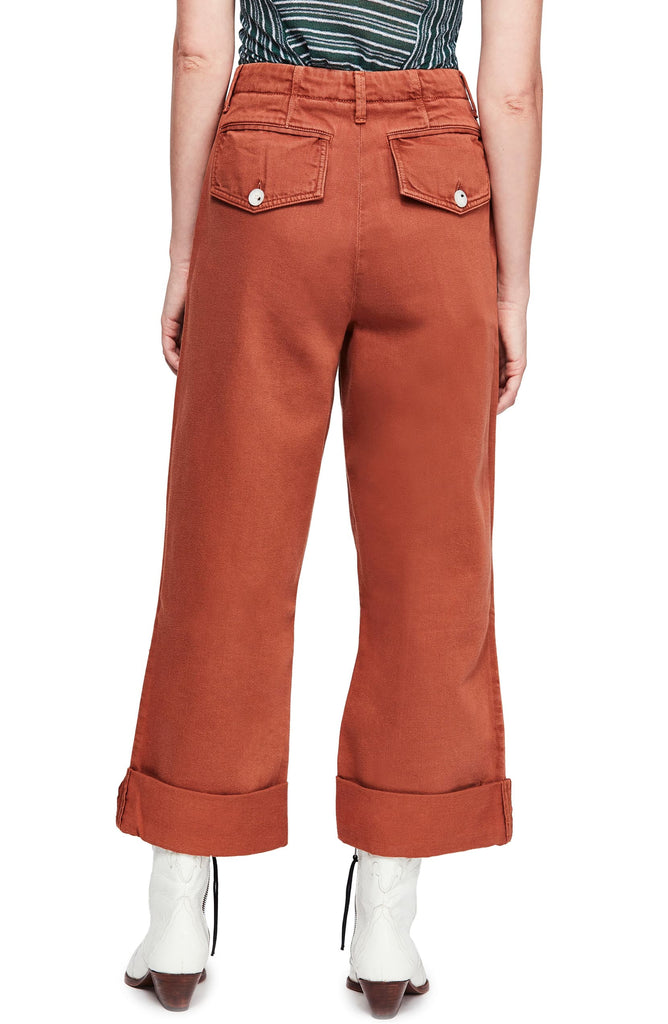 Yieldings Discount Clothing Store's On My Mind Wide Leg Pants by Free People in Rust