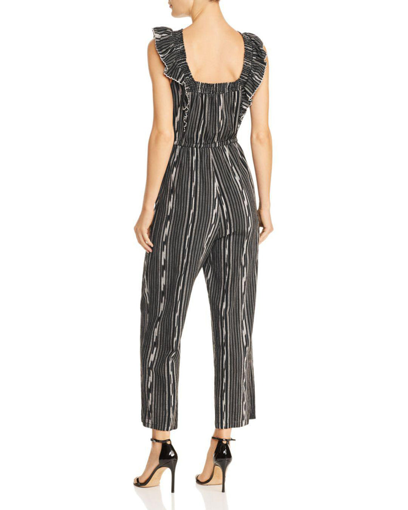 Yieldings Discount Clothing Store's Ikat Stripe Jumpsuit by La Vie Rebecca Taylor in Black Combo