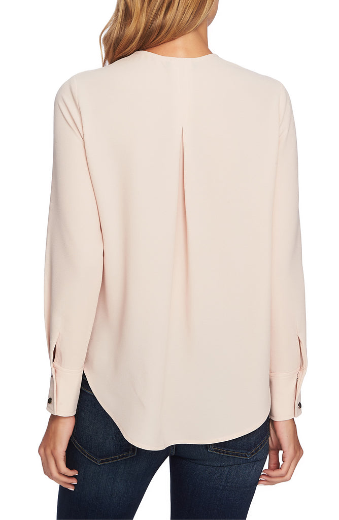 Yieldings Discount Clothing Store's Bow-Tie Blouse by 1.State in Blush Cream