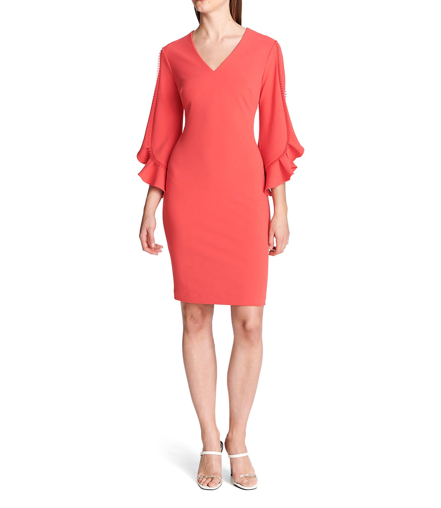 Yieldings Discount Clothing Store's Poly Dress by Calvin Klein in Medium Pink