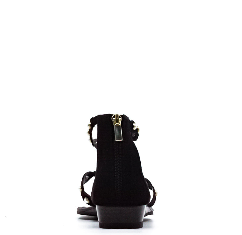 Yieldings Discount Shoes Store's Theressa Strappy Sandals by Bar III in Black