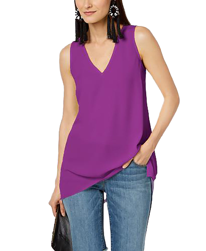 Yieldings Discount Clothing Store's Handkerchief-Hem Top by INC in Rich Amethyst