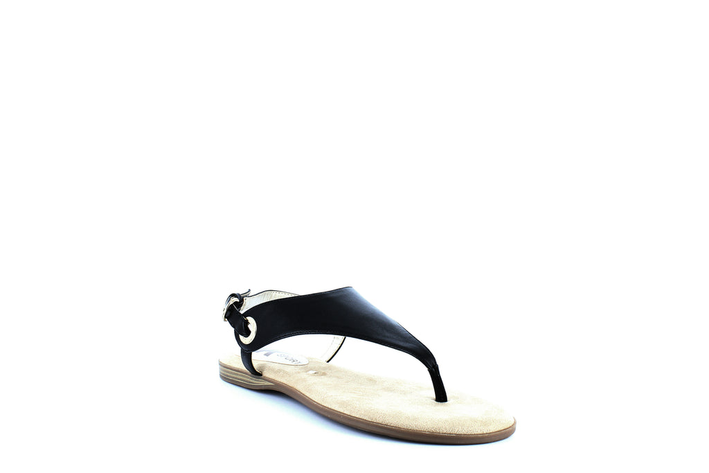 Yieldings Discount Shoes Store's Alpha Flat Sandals by Anne Klein AK Sport in Black