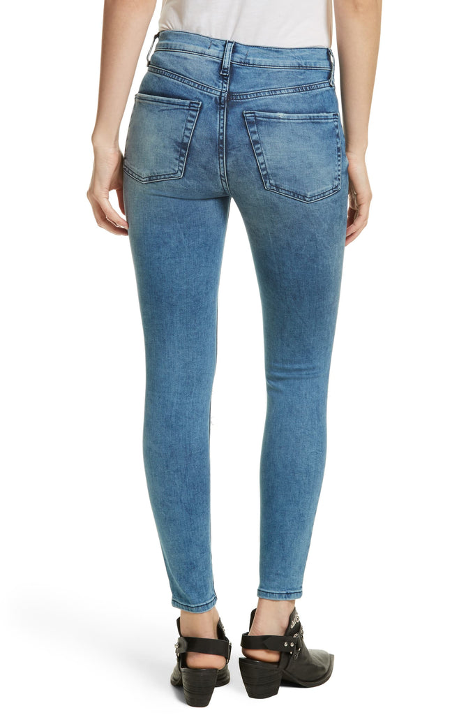 Free People | Cotton Ripped Medium Wash Denim Jeans
