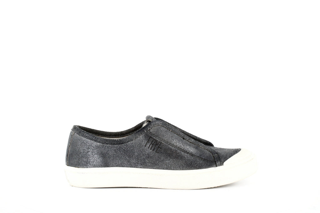 Yieldings Discount Shoes Store's Claudia Slip-On Sneakers by Frye in Silver