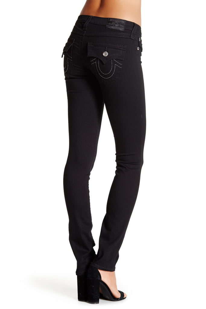 Yieldings Discount Clothing Store's Flap Pocket Skinny Jeans by True Religion in Black