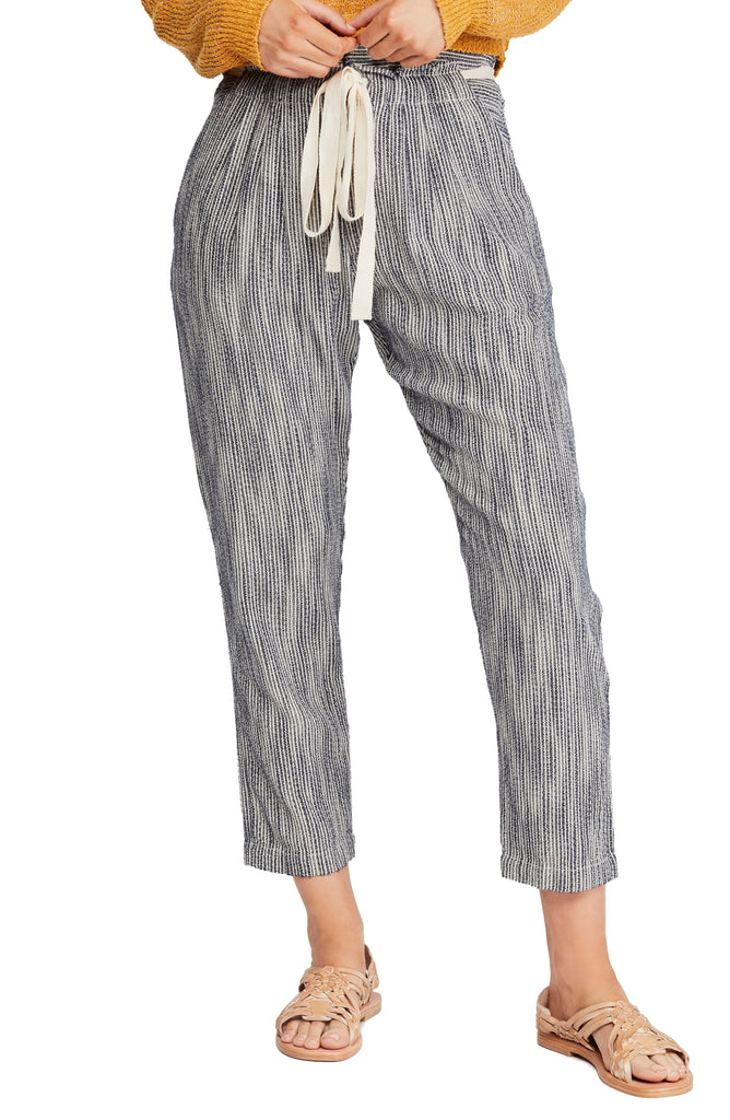 Yieldings Discount Clothing Store's Light At Sunrise Crop Pants by Free People in Indigo Blue