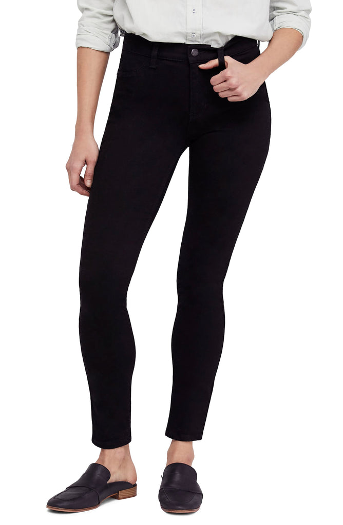 Yieldings Discount Clothing Store's High Rise Long And Lean Jeans by Free People in Black