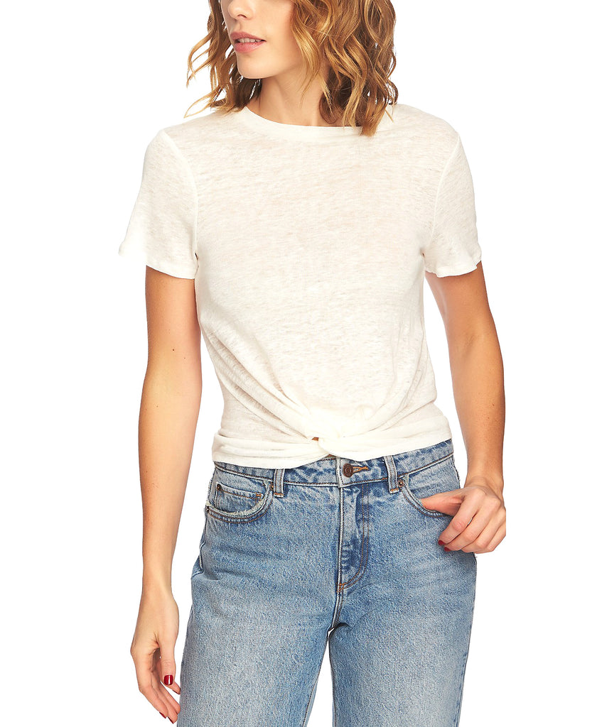 Yieldings Discount Clothing Store's Twist Front Tee by 1.State in New Ivory