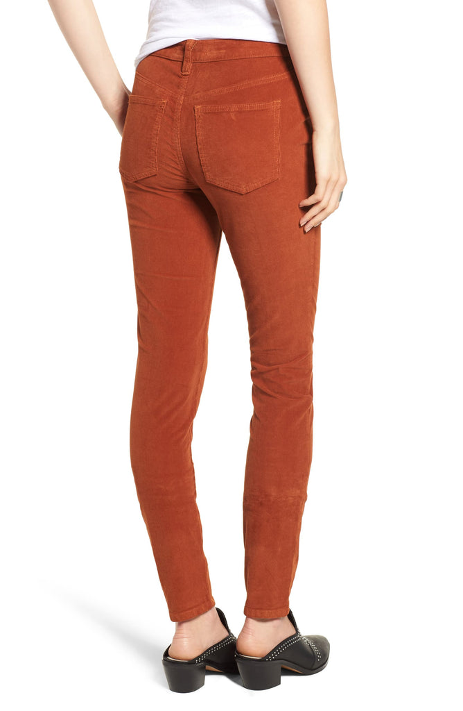 Yieldings Discount Clothing Store's Frayed Hem High-Rise Skinny Pants by Free People in Fired Chestnut