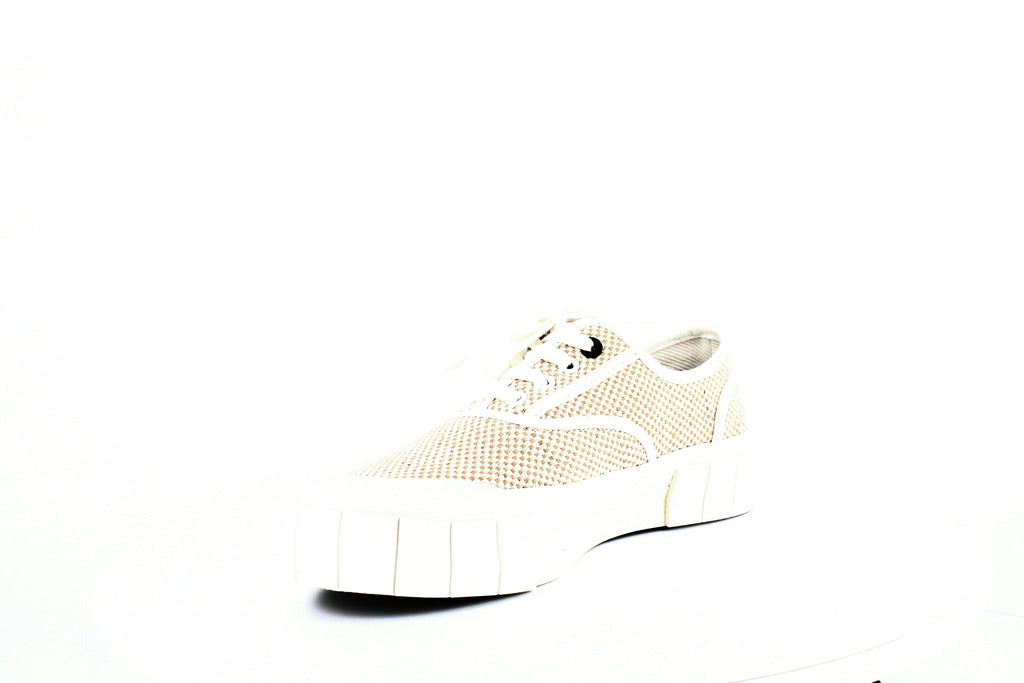 Yieldings Discount Shoes Store's Woven Low-Top Platform Sneakers by Good News in Weave