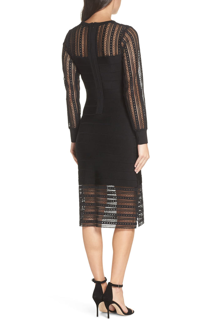 Yieldings Discount Clothing Store's Vivian Spotlight Knit Dress by French Connection in Black