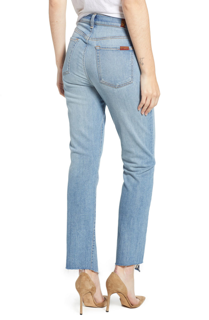 7 For All Mankind | Edie High Waist Crop Straight Jeans