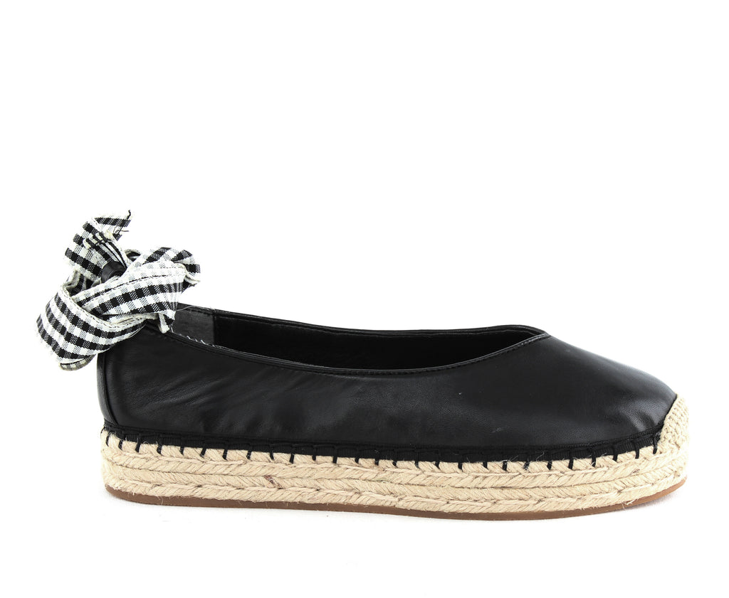 Yieldings Discount Shoes Store's Georgie Slip Ons by Avec Les Filles in Black Nappa
