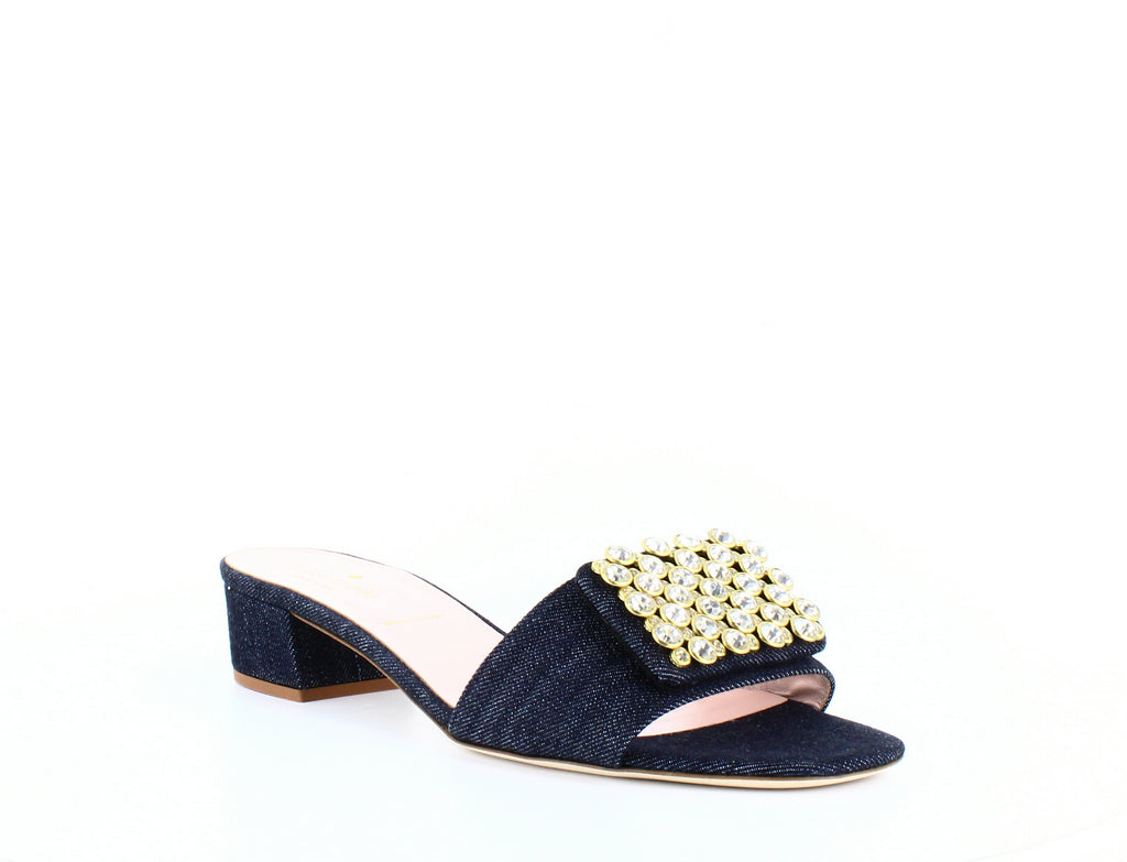 Yieldings Discount Shoes Store's Mazie Sandals by Kate Spade in Indigo