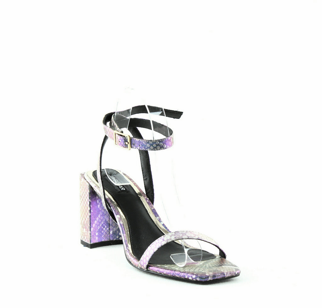 Yieldings Discount Shoes Store's Essential Snake-Print Sandals by Jaggar in Orange Snake