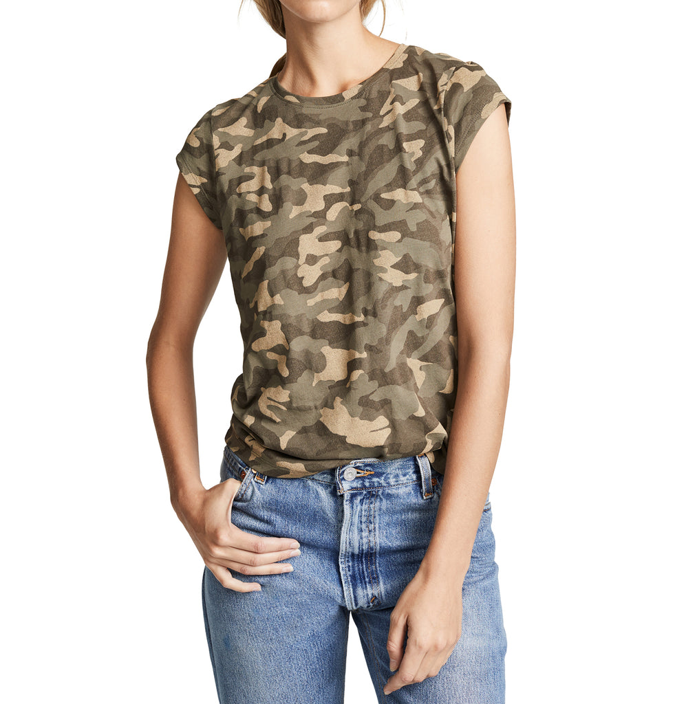 Yieldings Discount Clothing Store's Dillon Camo Tee by Joie in Fatigue
