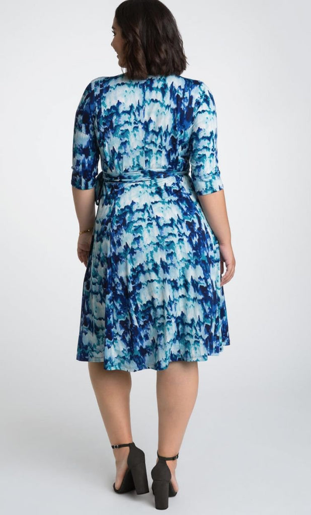 Yieldings Discount Clothing Store's Essential Wrap Dress by Kiyonna in IND