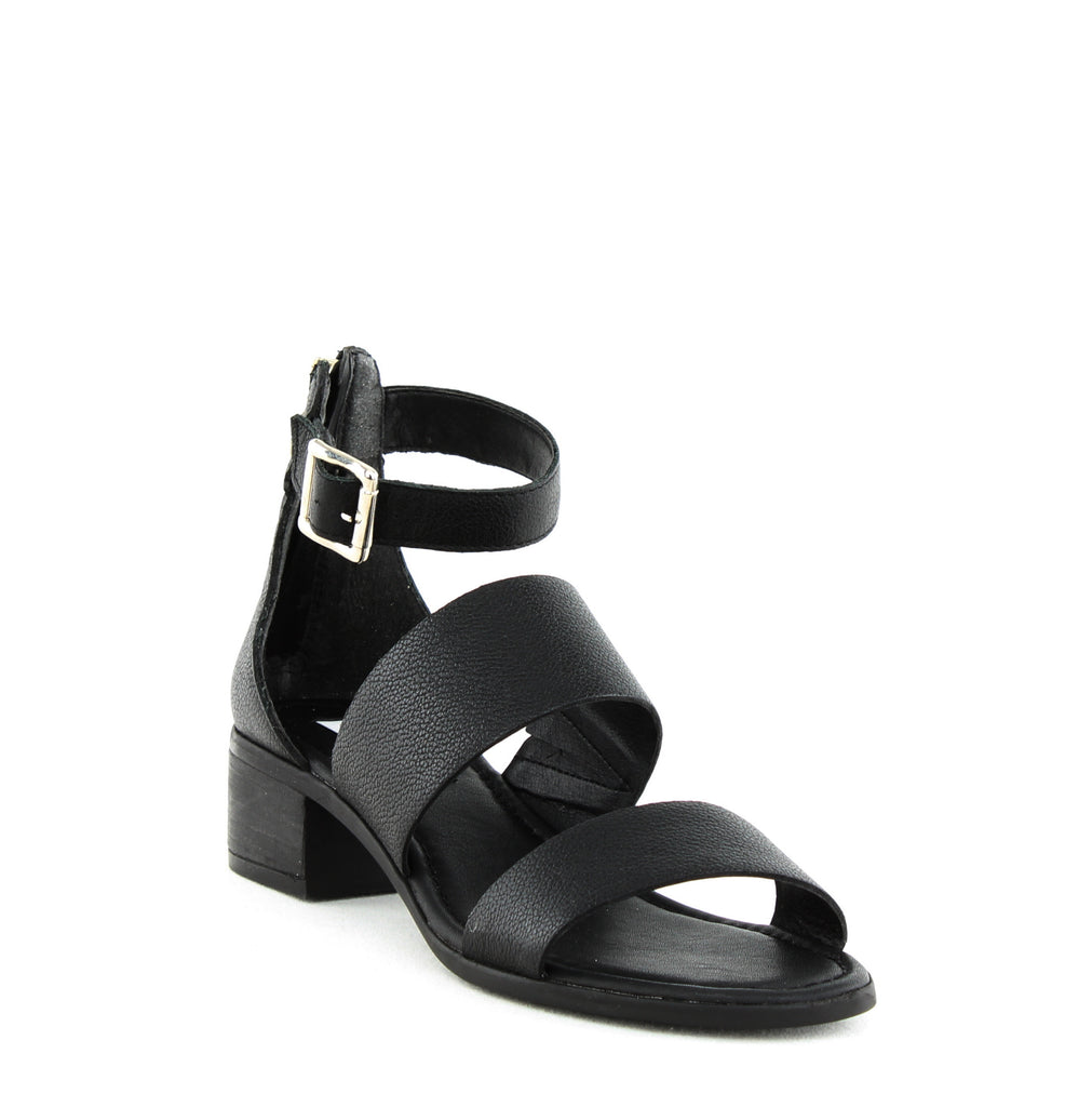 Yieldings Discount Shoes Store's Daly Ring Sandals by Steve Madden in Black