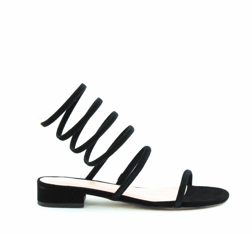 Yieldings Discount Shoes Store's Caila by Avec Les Filles in Black Kid Suede