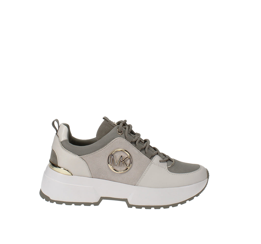 Yieldings Discount Shoes Store's Cosmo Trainer Sneakers by MICHAEL Michael Kors in Cream Suede