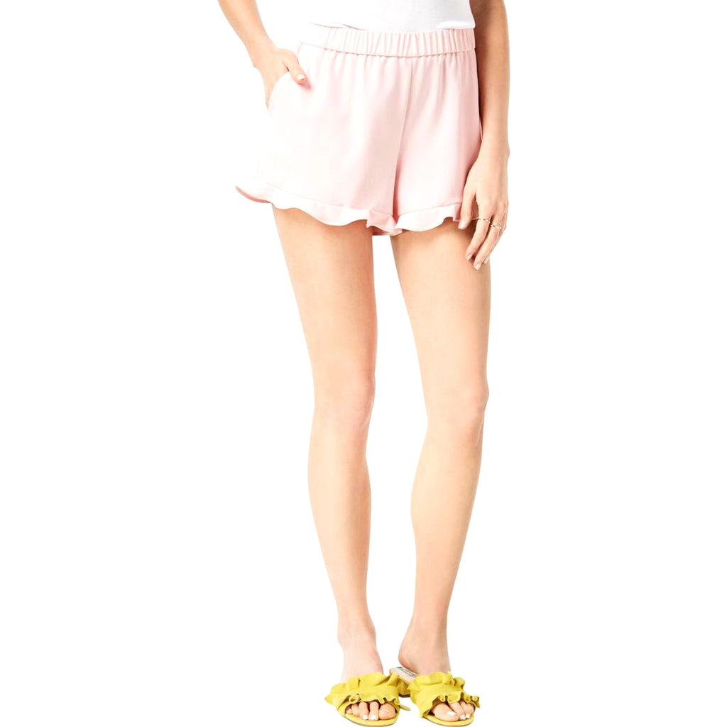 Yieldings Discount Clothing Store's Pull-on Ruffle Trim Soft Shorts by Maison Jules in Pink Lily