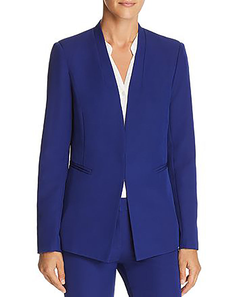 Yieldings Discount Clothing Store's Stand-Collar Blazer by Aqua in Cobalt