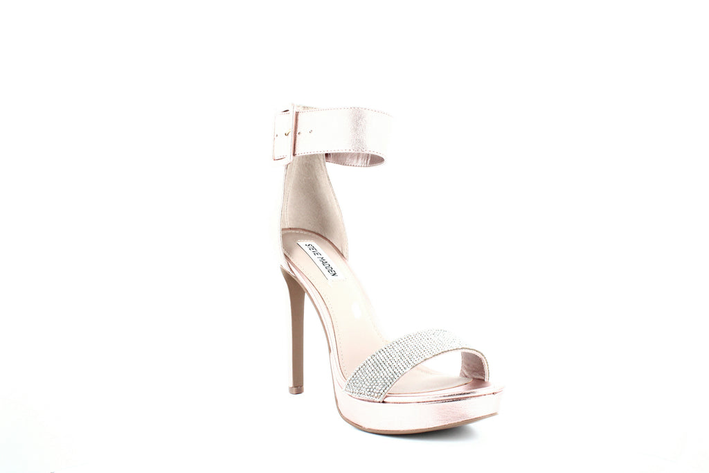 Yieldings Discount Shoes Store's Circuit-R Ankle Strap Sandals by Steve Madden in Rose Gold