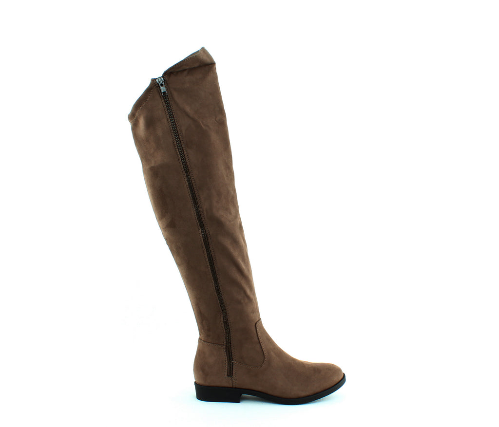 Yieldings Discount Shoes Store's Hadleyy Flat Boots by Style & Co in Truffle