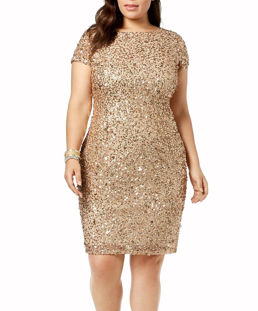Adrianna Papell | Sequined Sheath Cocktail Dress