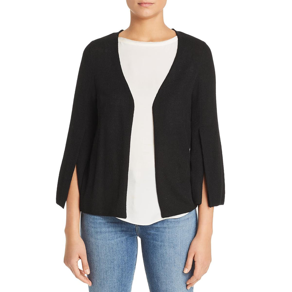 Yieldings Discount Clothing Store's Gretchen Slit-Sleeve Cardigan by Le Gali in Black
