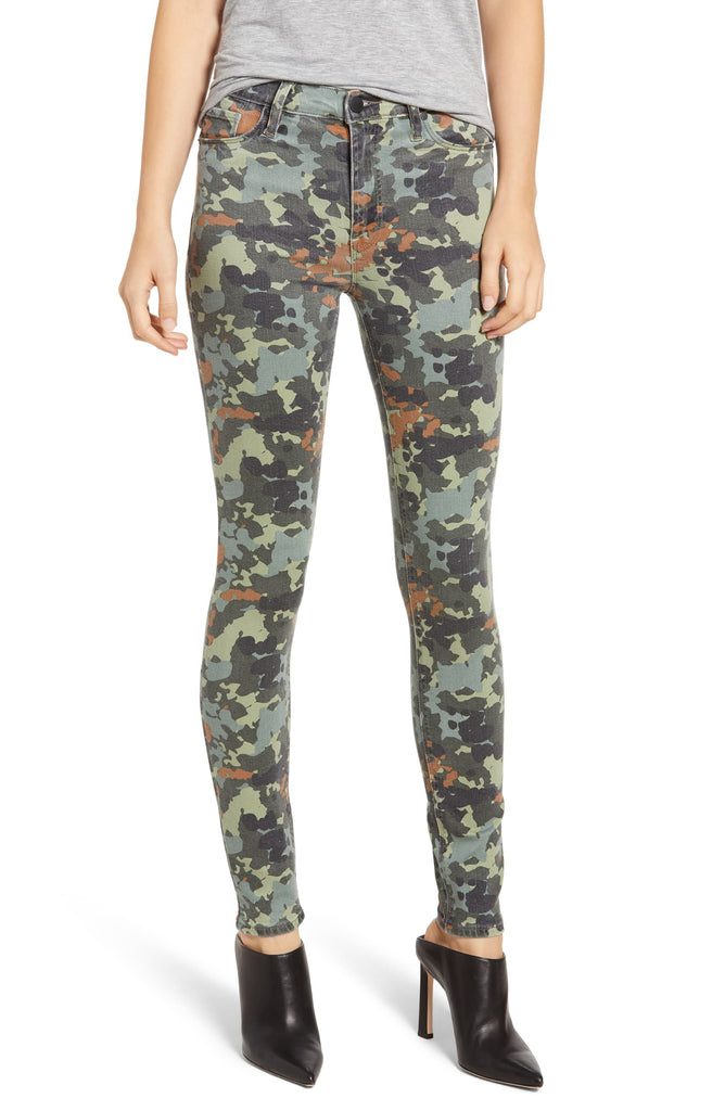 Yieldings Discount Clothing Store's Barbara High Waist Skinny Jeans by Hudson in Camo