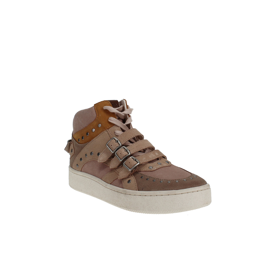 Yieldings Discount Shoes Store's C219 High Top Sneaker by Coach in Oat/Beechwood/Pale Blush