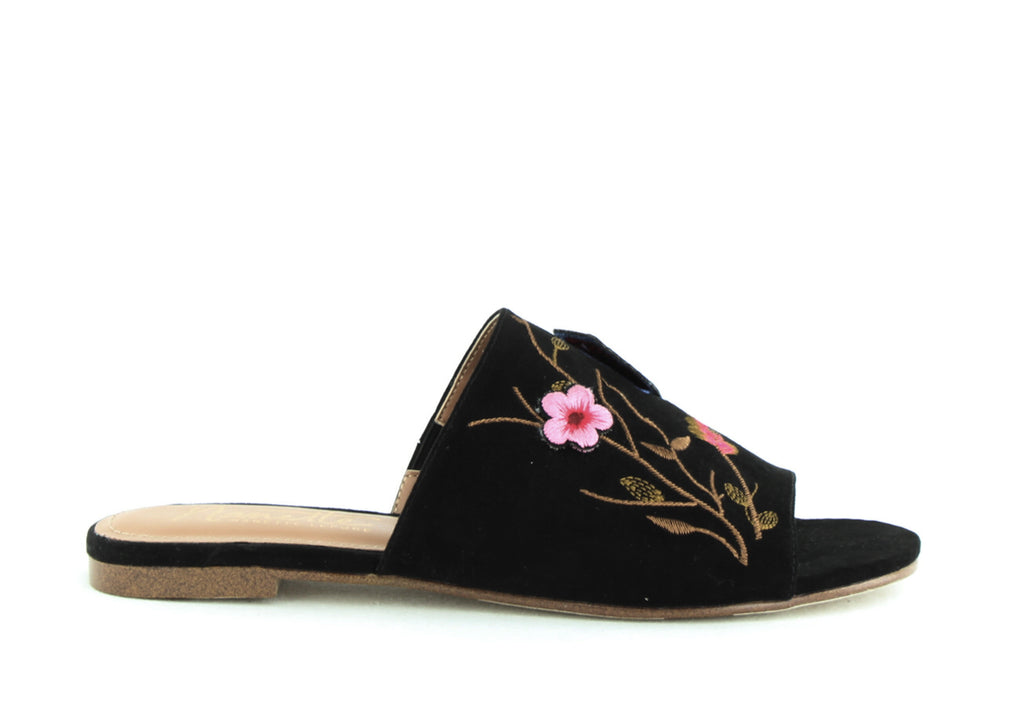 Yieldings Discount Shoes Store's Valentina Slides by Nanette Lepore in Black